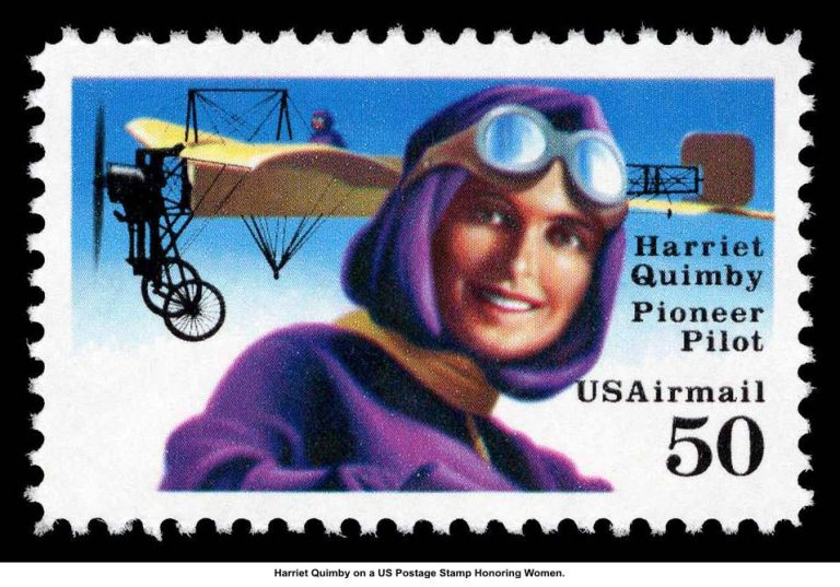 Harriet Quimby Postage Stamp